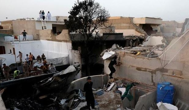 Two Passengers Safe And Ninety Seven Passengers Dead Most bodies Unidentified In Karachi Plane Crash