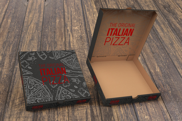 Download 50+ Best Pizza Box Mockup Templates | Free & Premium