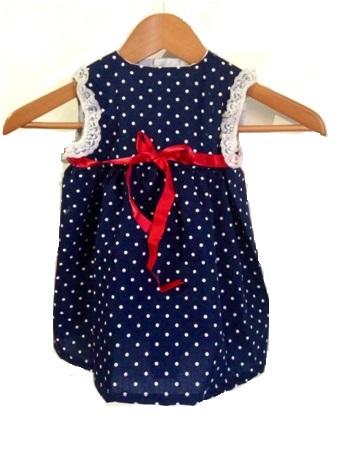 Vestido Con Canesú Para Niña