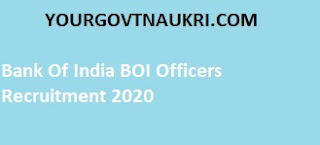 You can check here all Bank Of India BOI Recruitment 2020 details such as the salary, qualification, age limit, application fee, eligibility, exam date, and selection process.