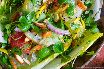 Watercress Salad w/ Creamy Mascarpone Vinaigrette