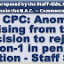 7th CPC: Anomaly arising from the decision to reject option-1 in pension fixation - Staff Side