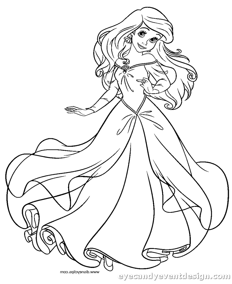 Arielle Ausmalbilder Disney Prinzessinnen Malvorlagen