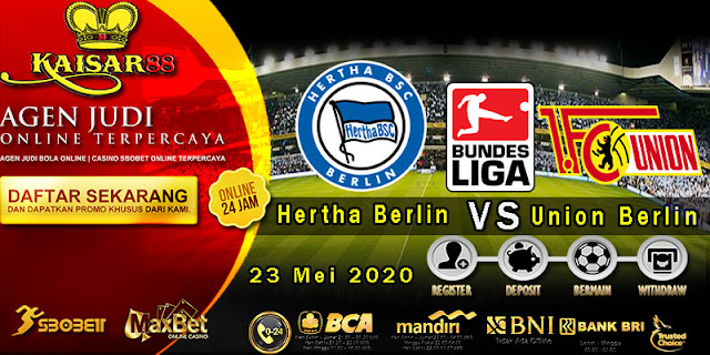 Prediksi Bola Terpercaya LIga German Hertha Berlin Vs Union Berlin 23 Mei 2020