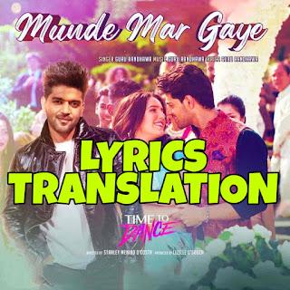 Munde Mar Gaye Lyrics in English   With Translation   – Time To Dance   Guru Randhawa