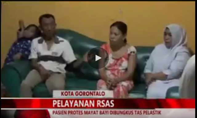 Innalillahi.. Mayat Bayi di Bungkus dengan Plastik di RSAS Kota Gorontalo