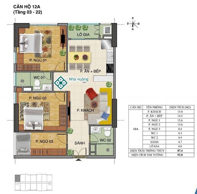 Căn hộ số 12A tòa Trường An- Tràng An Complex