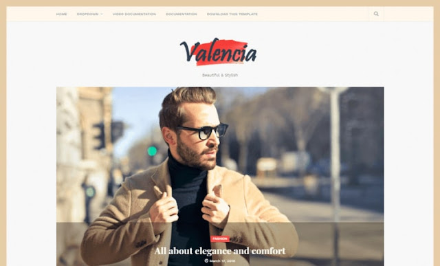Valencia Blogger Template