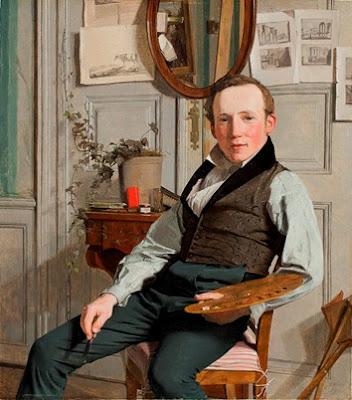 Christen Købke, Portrait of the landscape painter Frederik Sødring (1832) Hirschprung Museum (Copenhagen) Copyright: Hirschprung Museum