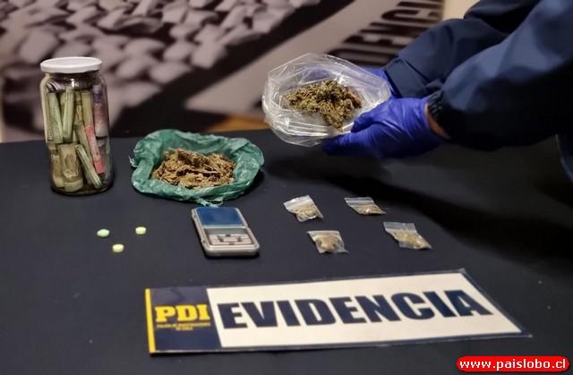 PDI detiene a un hombre por microtráfico de drogas en Castro