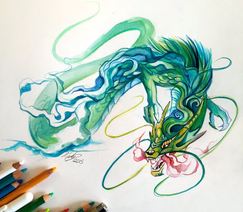 21-Chinese-Dragon-Katy-Lipscomb-Lucky978-Fantasy-Watercolor-Paintings-Colored-Pencils-Drawings-www-designstack-co