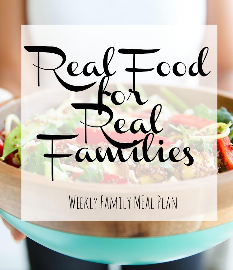Weekly Family Meal Plan 2017 Week 33