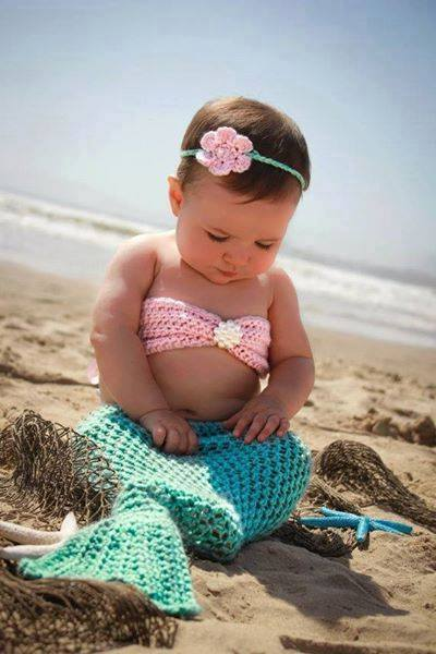 Baby Crochet Mermaid Costume For Your Princess