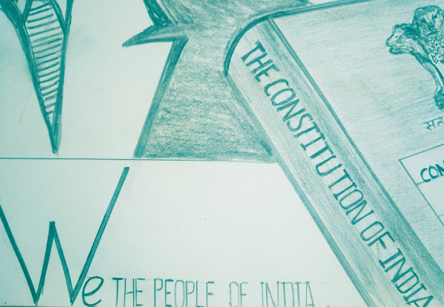 Drawing Image of indian Constitution