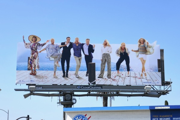 Mamma Mia Here We Go Again cut-out billboard