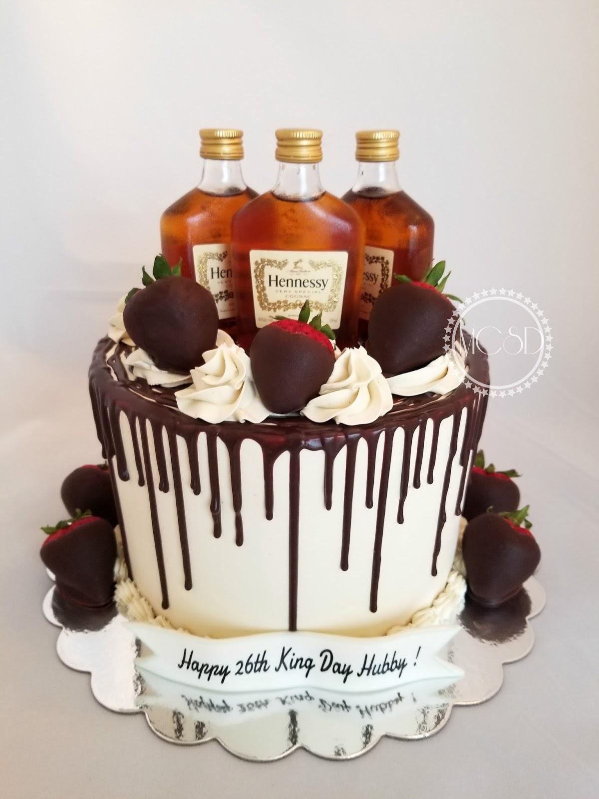 Hennessy Birthday Cake