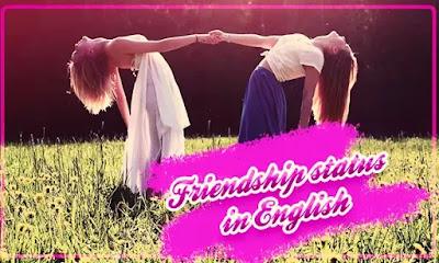 Friendship status in English{friendship status best friend