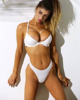Noel Leon White bikini