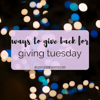 10 ways to give on #givingtuesday and make a difference in your community and be a good person. 10 cheap and easy good deeds to do today. 10 random acts of kindness to do for Giving Tuesday. Creative ways to give back to others. Best ways to give back to community. Inexpensive ways to give back. | brazenandbrunette.com