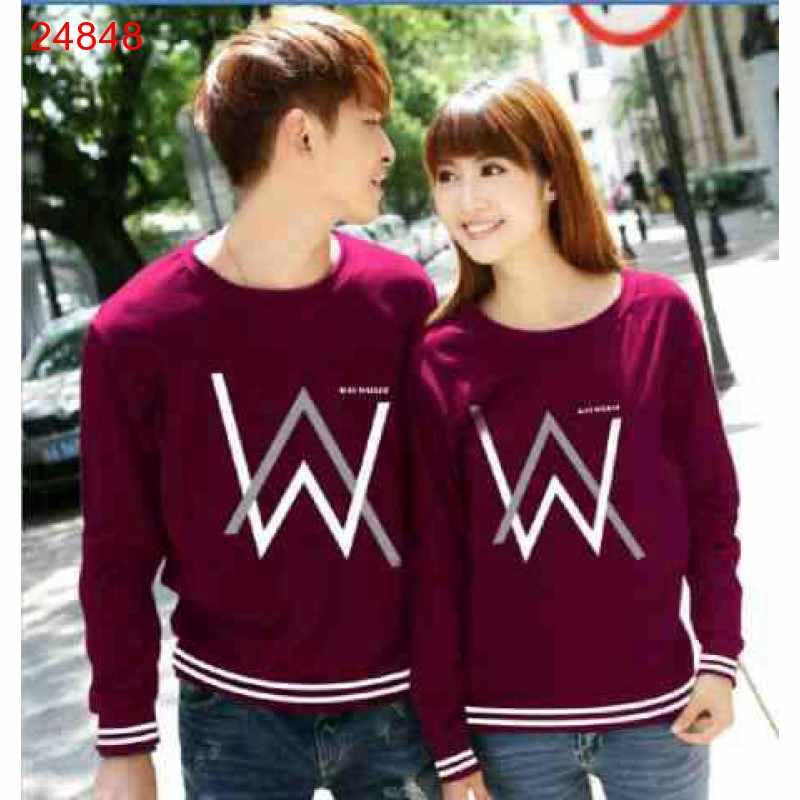Jual Sweater Couple Sweater Alan Walker Rajut Maroon - 24848