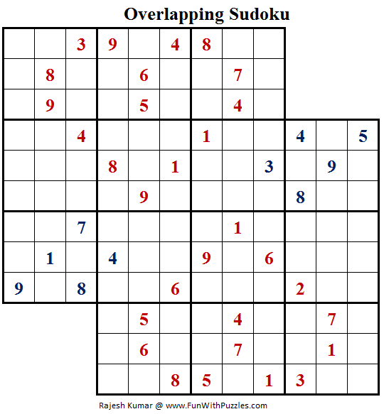 Overlapping Sudoku (Fun With Sudoku #157)