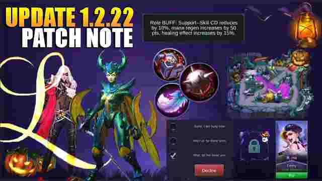 Update Terbaru Mobile Legend Patch Notes 1.2.22