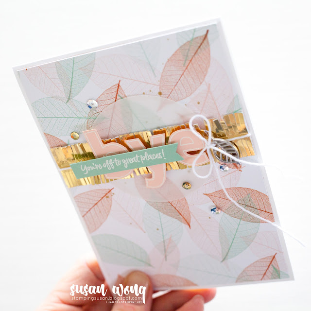 Above the Clouds, Lined Alphabet, Nature's Poem by Stampin Up! - Farewell Card by Susan Wong