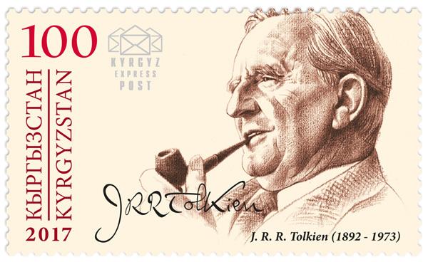 Francobolli speciali del  Kirghizistan per celebrare Tolkien... e c'è anche l'italiano Rossini.
