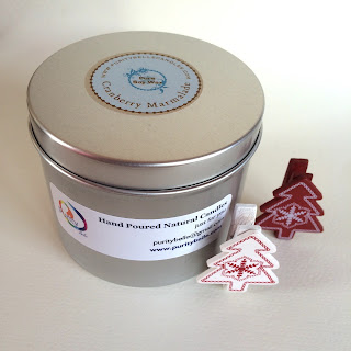 Cranberry Marmalade Soy Tin Candle by Purity Belle Candles