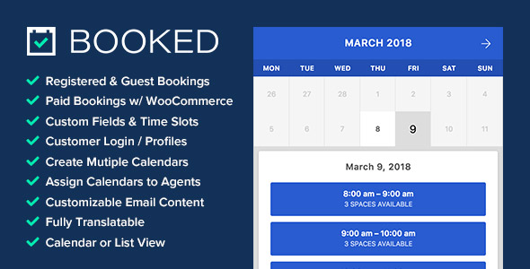 Booked v2.3.5 - Appointment Booking for WordPress