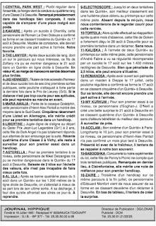 programme quinté Pronostic Mercredi 15/09/2021