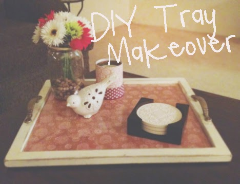 serving tray makeover