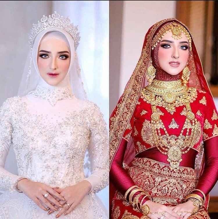 inspirasi rias pengantin hijab 2021