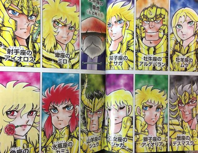 Saint Seiya Episode Zero manga dourados