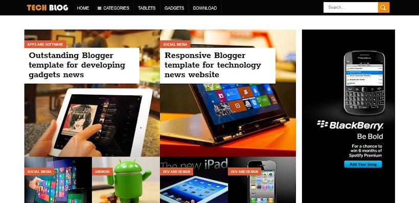 TechBlog Free Blogger Template