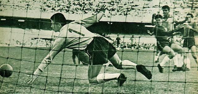 Brasil y Chile en partido amistoso, 29 de junio de 1960