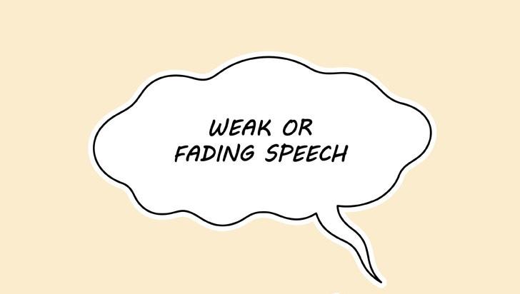 Manga lemah pidato gelembung