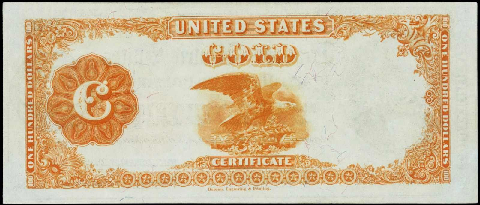 United States currency 1922 100 Dollars Gold Certificate