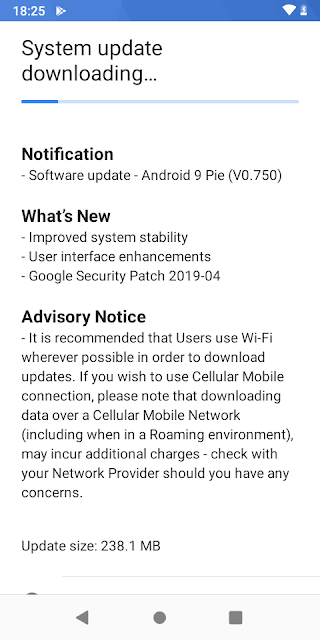 Nokia 1 Plus receiving April 2019 Android Security update