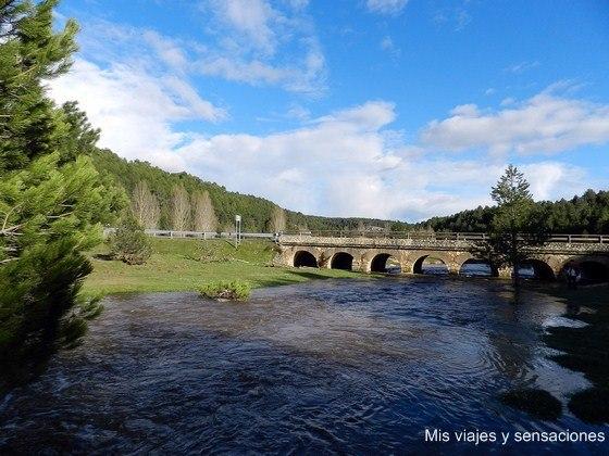Puente de los siete ojos, Parque Natural del Cañón del río Lobos, Soria