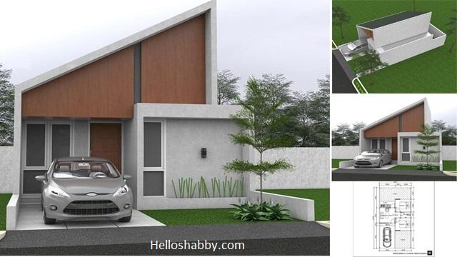 Desain Rumah Minimalis Modern Ukuran 6 X 12 M Dengan Atap Miring Dan 2 Kamar Tidur Yang Cozy Helloshabby Com Interior And Exterior Solutions