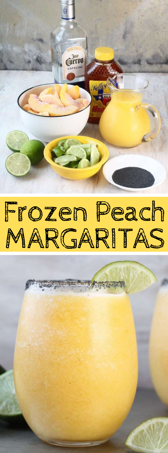 FROZEN PEACH MARGARITAS #drink #beverages