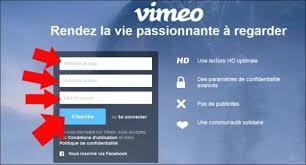 Inscription Vimeo
