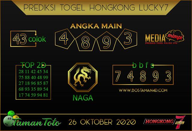 Prediksi Togel HONGKONG LUCKY 7 TAMAN TOTO 26 OKTOBER 2020