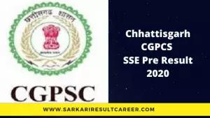 Chhattisgarh CGPSC SSE