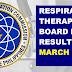 March 2021 Respiratory Therapist Board Exam Result