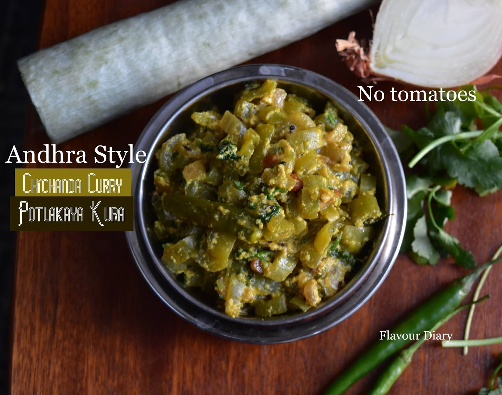 Chichanda Milk Curry recipe Potlakaya Pala Kura Snake Gourd Indian Veg Curry |  Flavour Diary