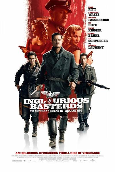 Poster of Inglourious Basterds (2009) Dual Audio [Hindi-DD5.1] 720p BluRay ESubs Download