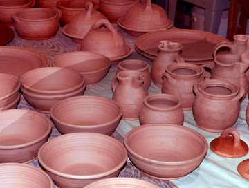 pottery items to be fired