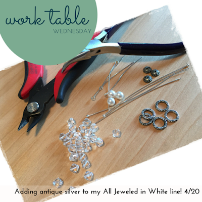 WTW: Adding Antique Silver to All Jeweled in White!